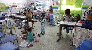 Famílias estão em abrigos temporários da Prefeitura de Igarassu