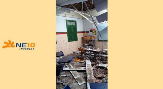 A educadora foi socorrida com ferimentos leves e passa bem