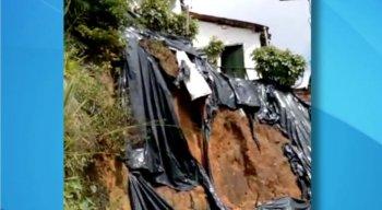 risco de deslizamento de barreira em Ouro Preto