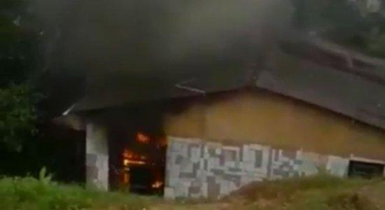 Após vazamento de gás, incêndio destrói casa em Aldeia