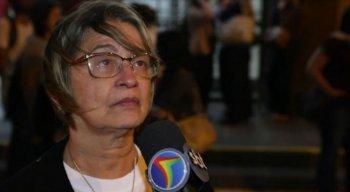 Mãe de Tássia Mirella se emociona ao falar sobre o resultado do julgamento.