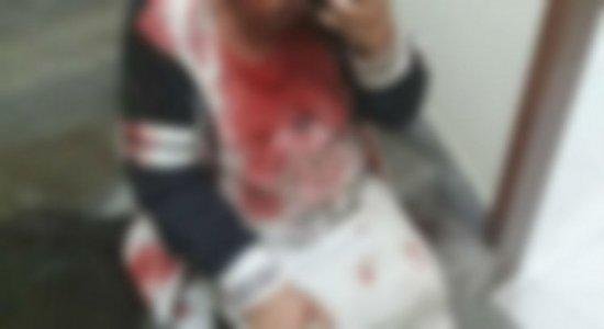 Polícia informa que mulher sofre traumatismo craniano ao ser agredida pelo filho