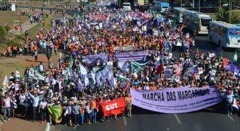 Marcha das Margaridas em 2015, na capital Brasília