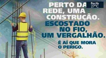 Campanha alerta perigos da rede elétrica