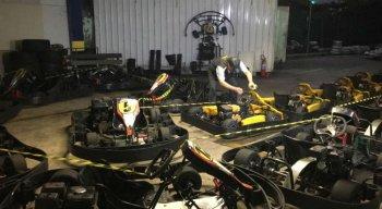 O espaço para corrida de kart no bairro da Torre foi interditado nesta terça-feira (13).