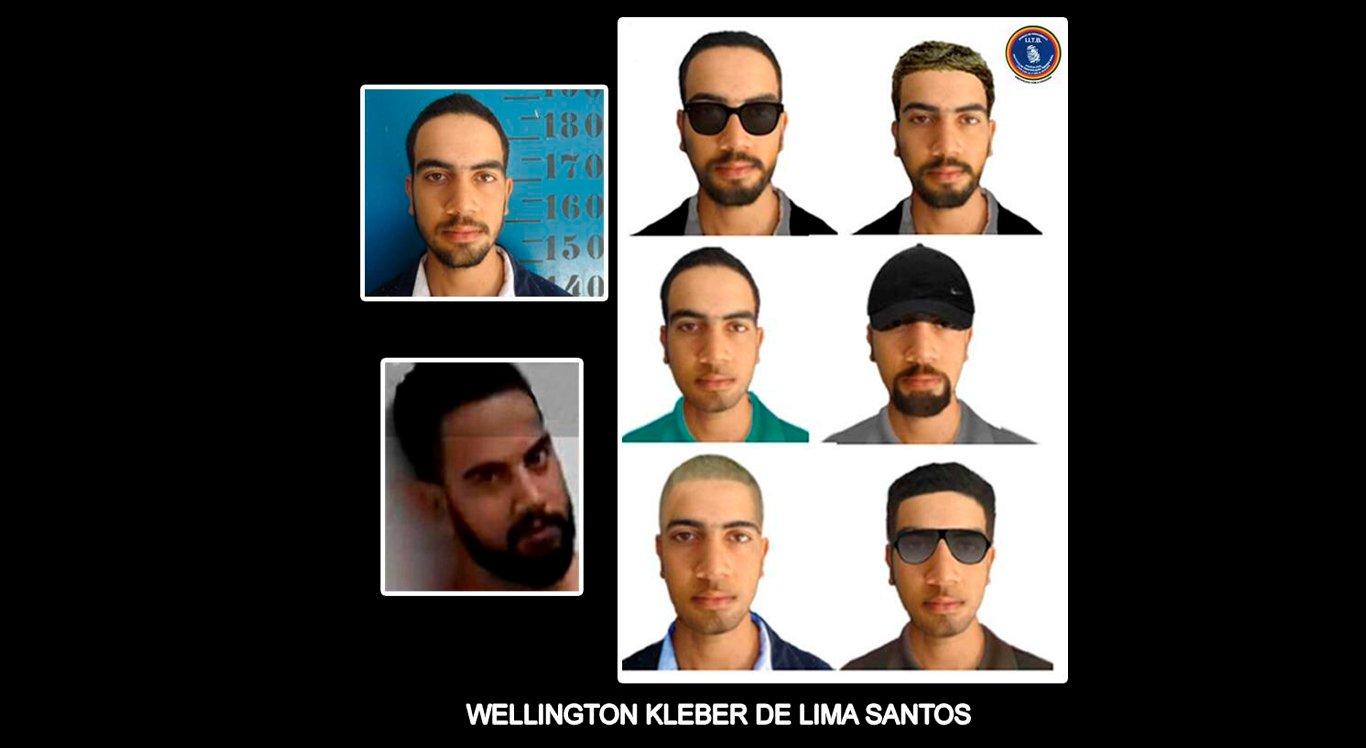 Polícia Civil divulgou imagens que podem ajudar a localizar o suspeito