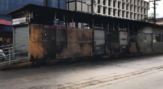 Estação atingida por incêndio segue interditada na Conde da Boa Vista