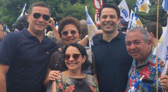 Diretores e jornalistas do Sistema Jornal do Commercio estiveram presentes na inauguração.