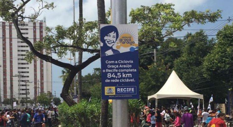 Ciclovia em homenagem à Graça Araújo é inaugurada em Santo Amaro