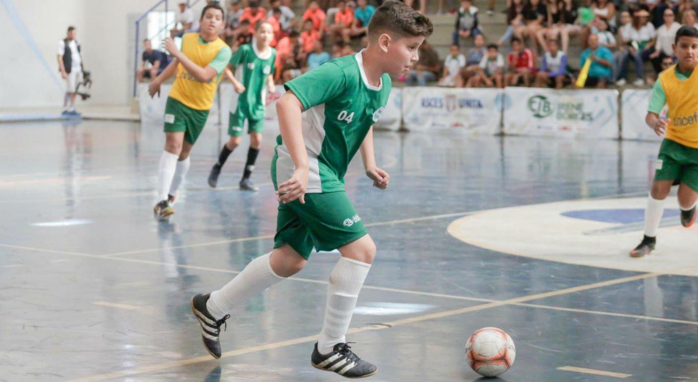 Futsal é uma das principais modalidades das Olimpíadas do Sistema