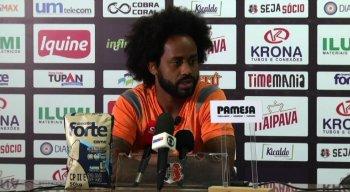 Meia Celsinho demonstrou confiança para avançar às quartas de final da Série C, durante entrevista coletiva