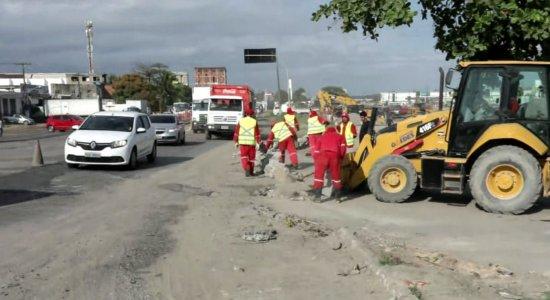 Confira as mudanças no tráfego da BR-101 por causa das obras