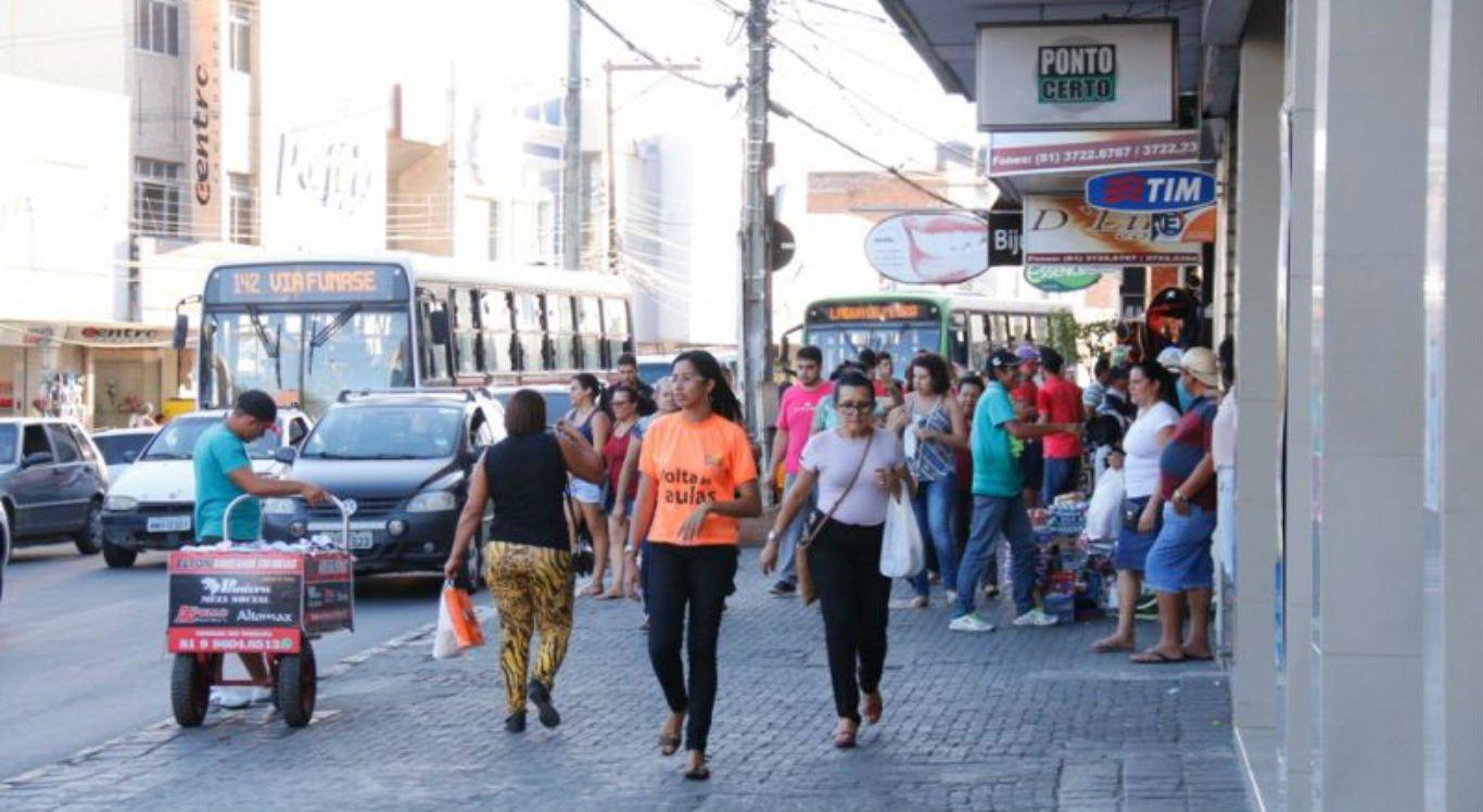 Comércio do centro de Caruaru poderá funcionar no dia 7 de Setembro