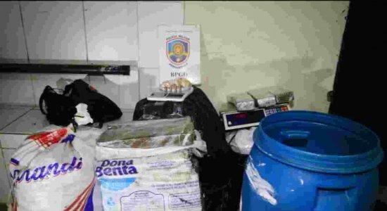 Polícia apreende 120 quilos de maconha em Prazeres