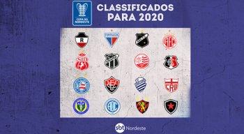 Times classificados para a edição de 2020 da Copa do Nordeste