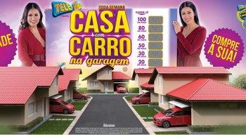 Primeiro sorteio premia com casa e carro na garagem
