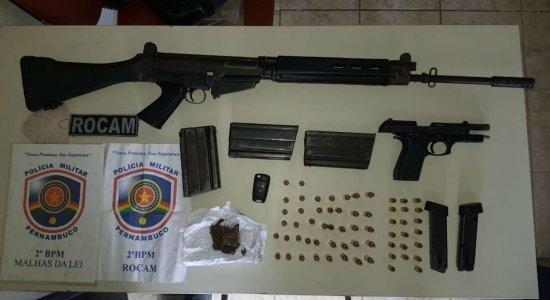 Polícia encontra fuzil durante operação em Ferreiros, na Zona da Mata