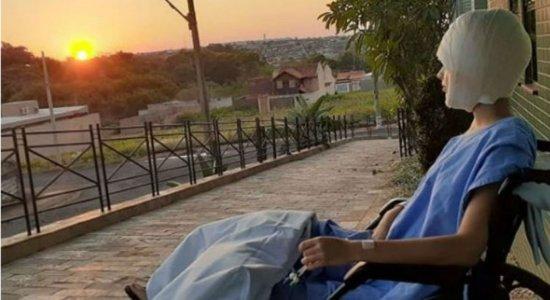 Vítima de acidente em kart publica foto com mensagem de gratidão