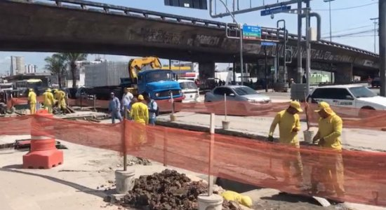 Obras na Avenida Caxangá causam transtornos para motoristas