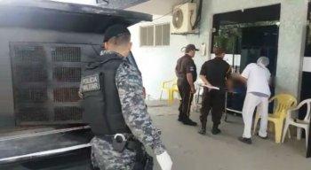 O sargento foi socorrido para uma unidade hospitalar da cidade