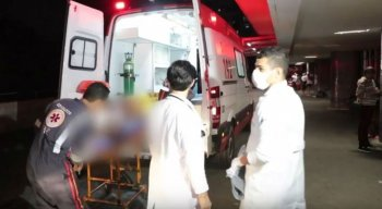 O ambulante recebeu atendimento no HR depois de ser atingido com o tiro nas costas