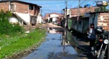 Situação é registrada na comunidade Sovaco da Cobra, no bairro de Barra de Jangada