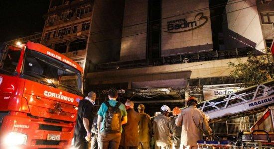 Morre 13ª vítima de incêndio no Hospital Badim no Rio