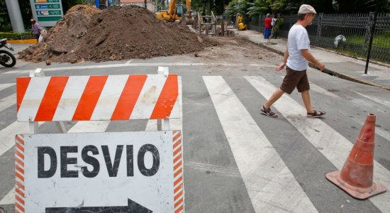 A Rua Senador Alberto Paiva será temporariamente mão dupla entre a Avenida Rui Barbosa e a Rua Sérgio Magalhães