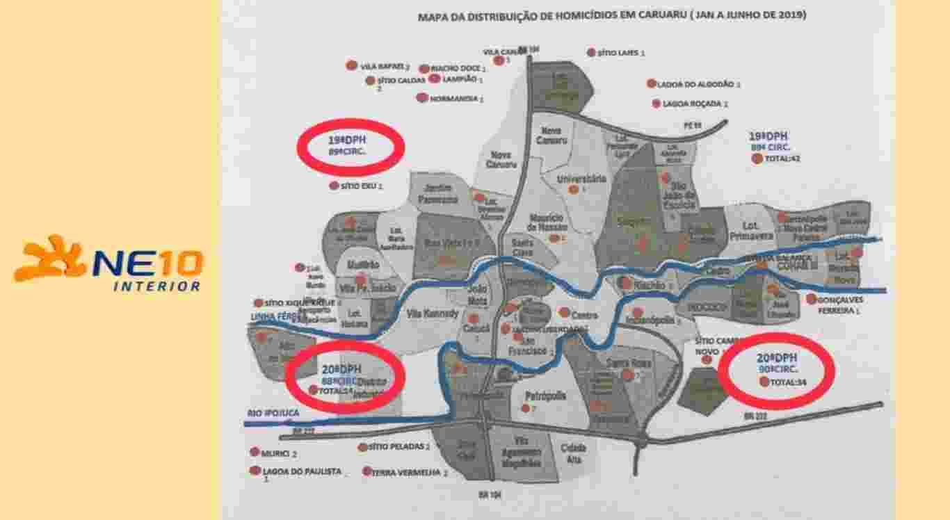 Polícia Civil divulga Mapa de Homicídios em Caruaru