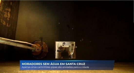 O desabastecimento de água tem afetado a cidade de Santa Cruz do Capibaribe.