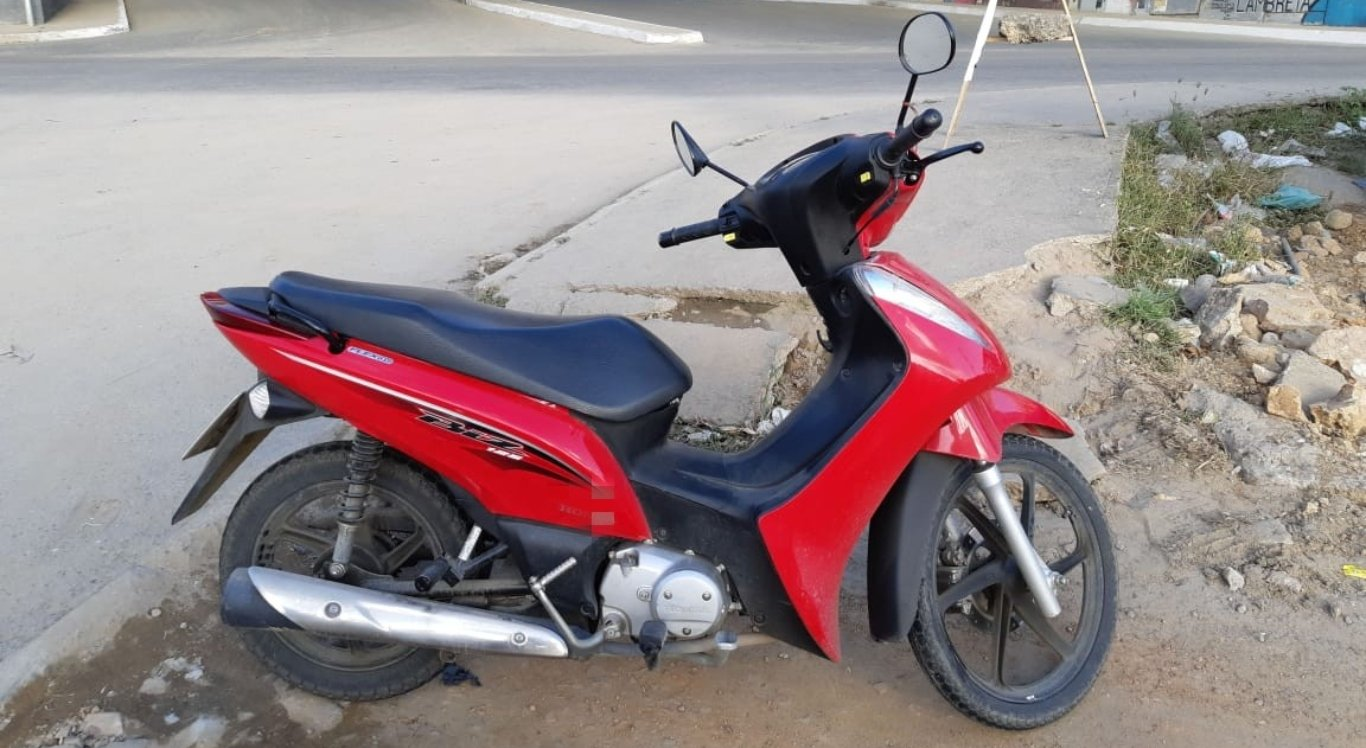 Moto envolvida no acidente