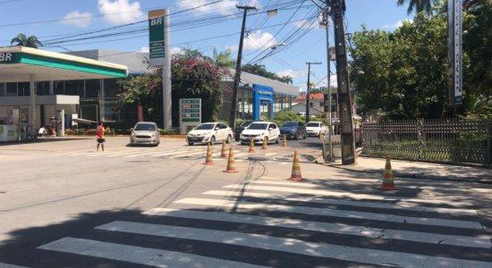 Trecho da Rui Barbosa interditado para obra é liberado neste domingo