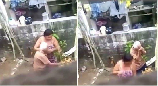 Mulher é presa por agredir a mãe idosa com pedaço de madeira