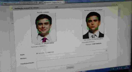 Reconhecimento facial é obrigatório para a confecção de CNH nova