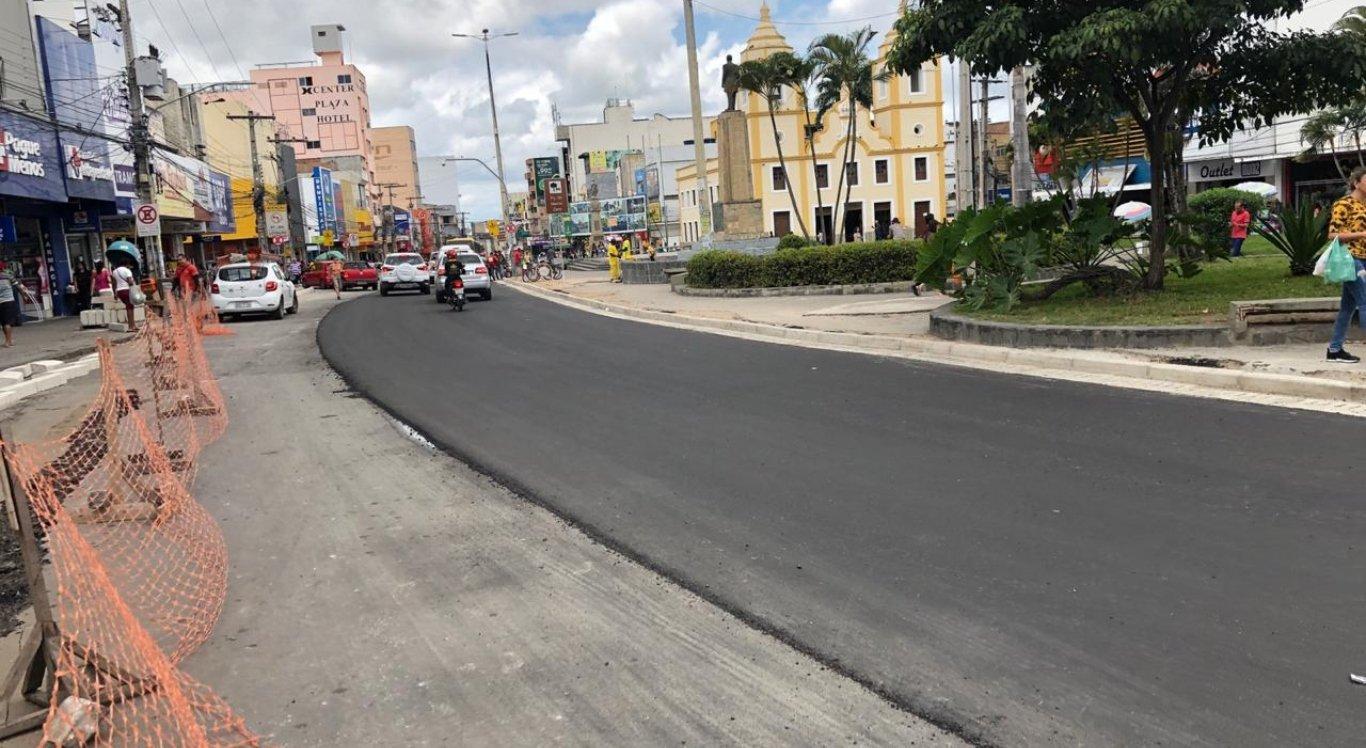 Centro de Caruaru passa por obras de requalificação
