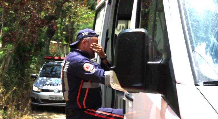 Cícero Antônio, socorrista do SAMU, não segurou as lágrimas diante do desfecho do caso