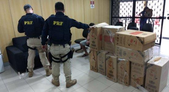 PRF apreende 5 mil maços de cigarro no Sertão de Pernambuco