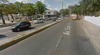 A Secretaria de Transportes e Trânsito de Olinda não informou prazo para a conclusão da obra