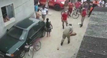 Segundo os moradores, o pitbull estava solto na Rua Jaborandi