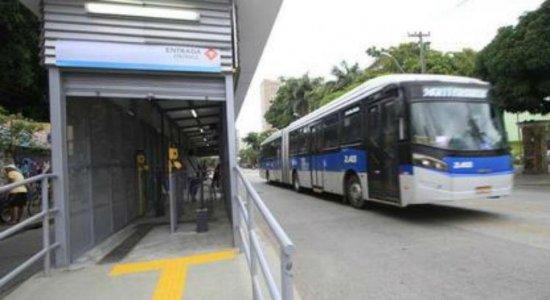 Estação de BRT é desativada por causa de obras na Av. Conde Boa Vista