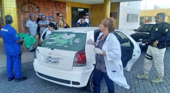 Uma viatura fez a escolta até o Hospital da Mulher