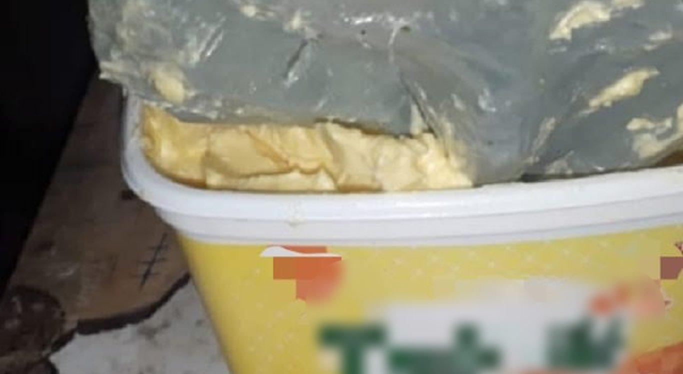 Polícia apreende maconha dentro de pote de margarina