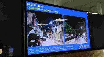 A cidade do Recife já conta com 7.909 pontos de iluminação.