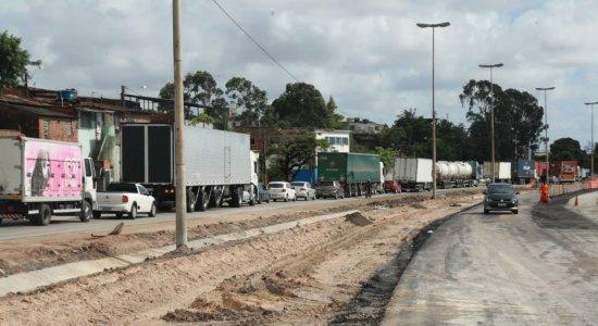 Nova etapa de requalificação da BR-101 provoca congestionamento