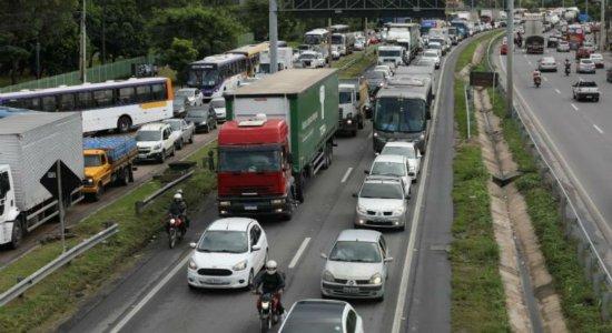 Obras na BR-101 começam nesta segunda (23) no Recife, com alterações no trânsito e nos ônibus; veja o que muda