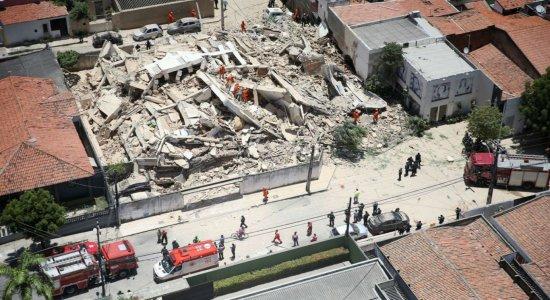 Quinta morte de desabamento em Fortaleza é confirmada pelos Bombeiros