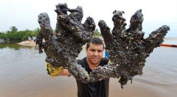 Depois de chegar em Alagoas, manchas de óleo seguiram para São José da Coroa Grande (PE)