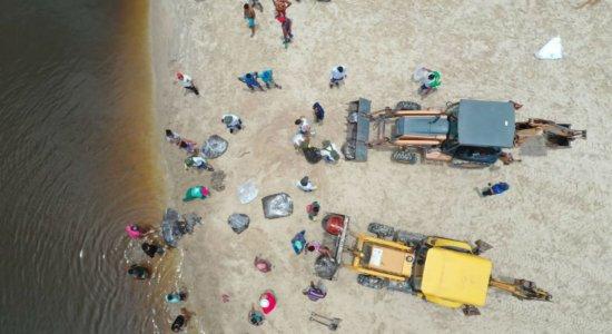 Limpeza do mar em São José da Coroa Grande