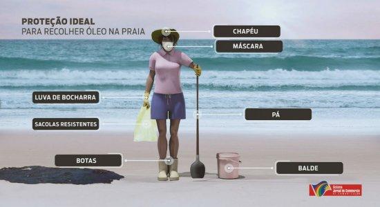 TV Jornal recebe doação de equipamentos de proteção para retirar óleo das praias