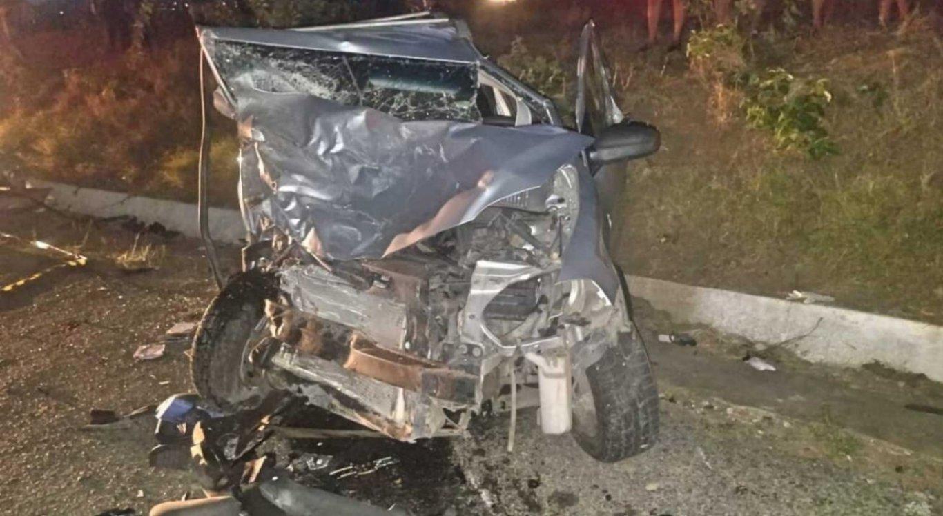 O acidente aconteceu na BR-104, em Taquaritinga do Norte